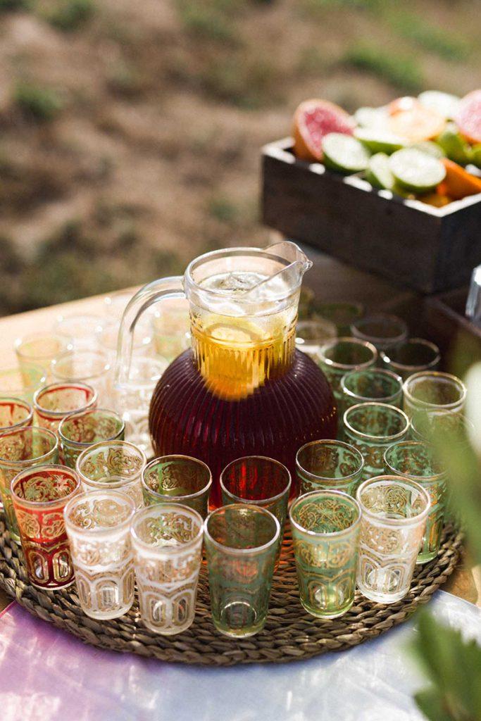 buffet aguas boda bienvenida