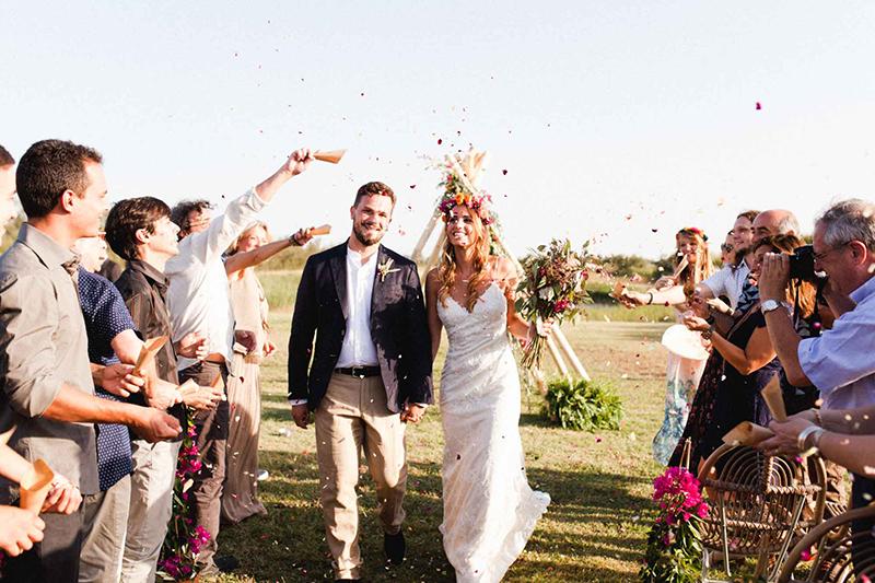 confetti petalos boda