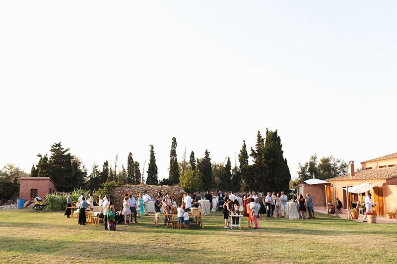 aperitivo boda aire libre
