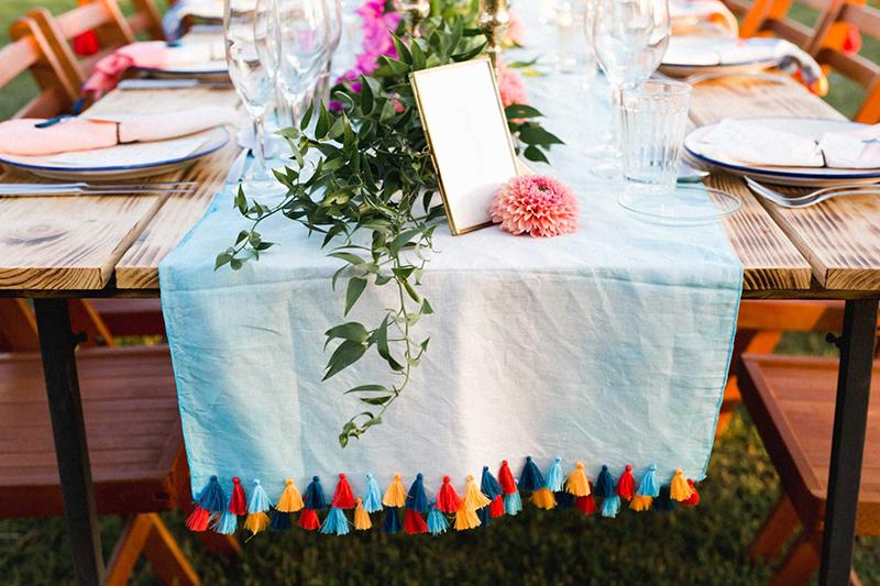 camino de mesa boda
