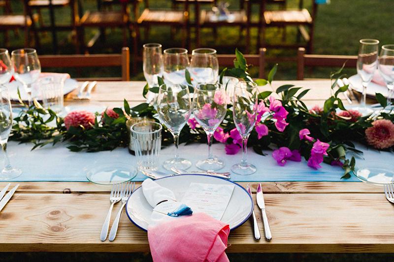 decoracion mesa bohemia boda