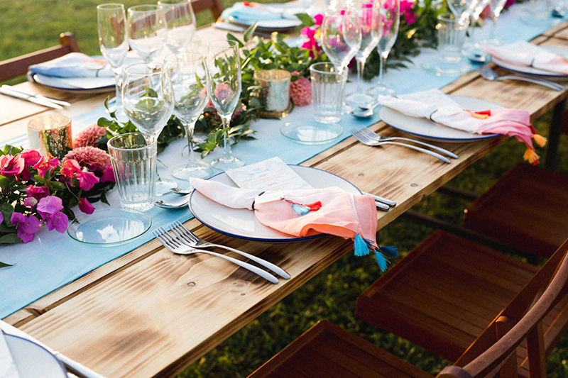 decoracion mesa bohemia boda centro de mesa