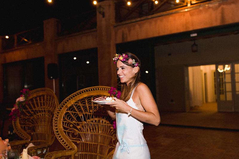 mesa de pasteles boda