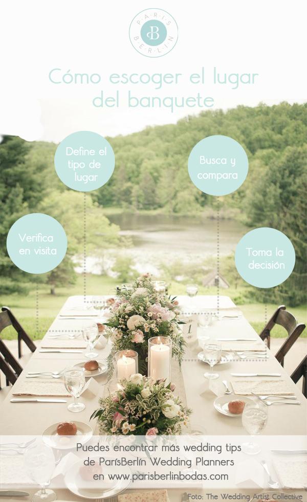 cómo escoger el lugar del banquete boda