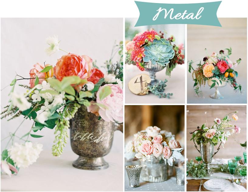 centros de mesa para tu boda base de metal