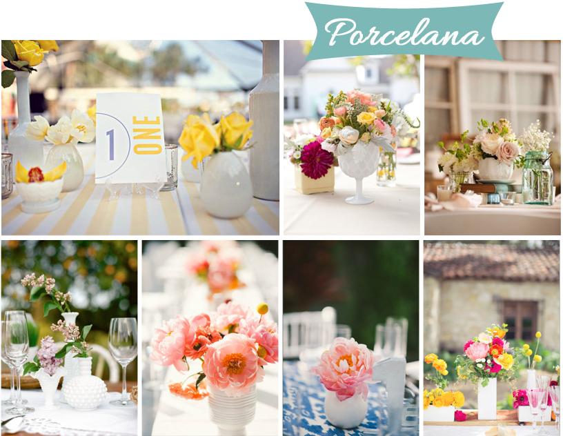 centros de mesa para tu boda base de porcelana