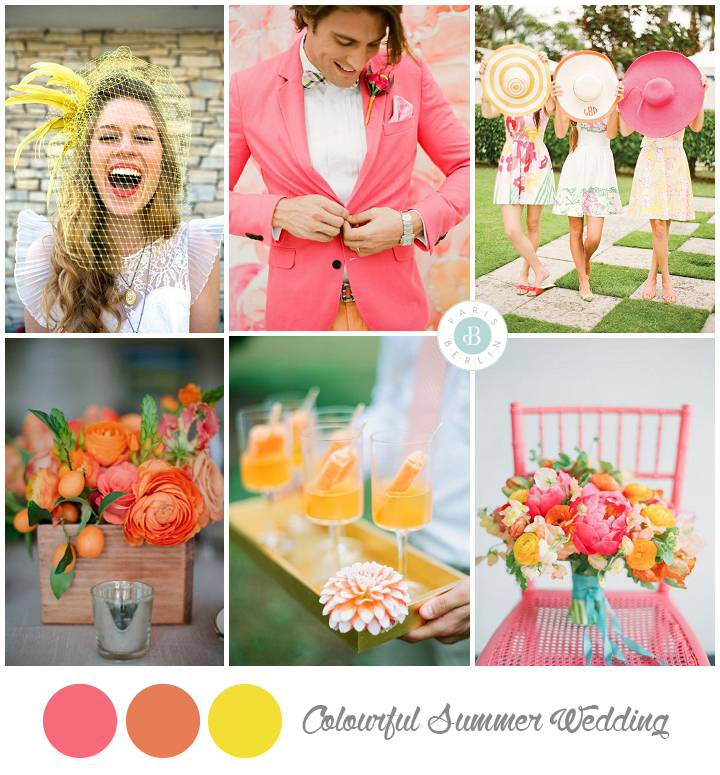 colores para boda verano decoracion amarillo, naranja y amarillo