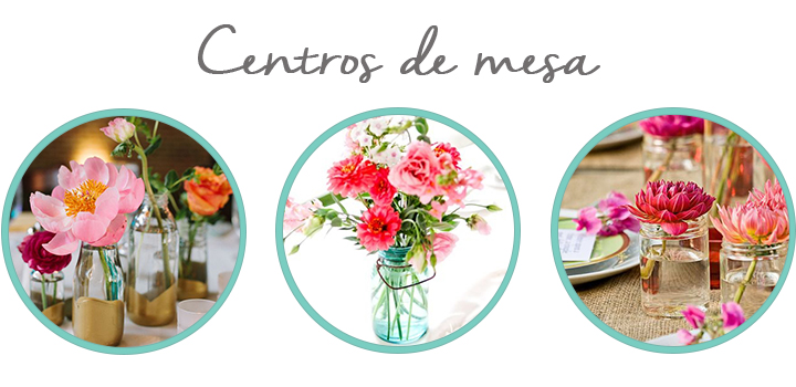 decora tu boda con botes de conserva centros de mesa