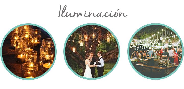 decora tu boda con botes de conserva iluminacion