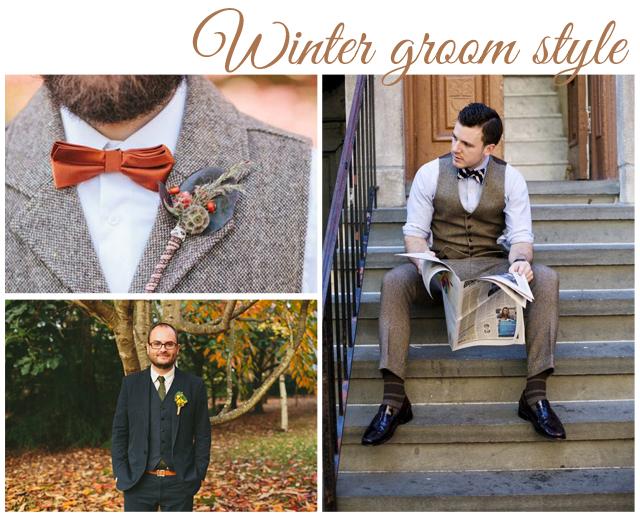 estilo novio invierno traje