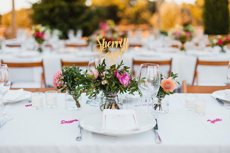 numero mesa boda