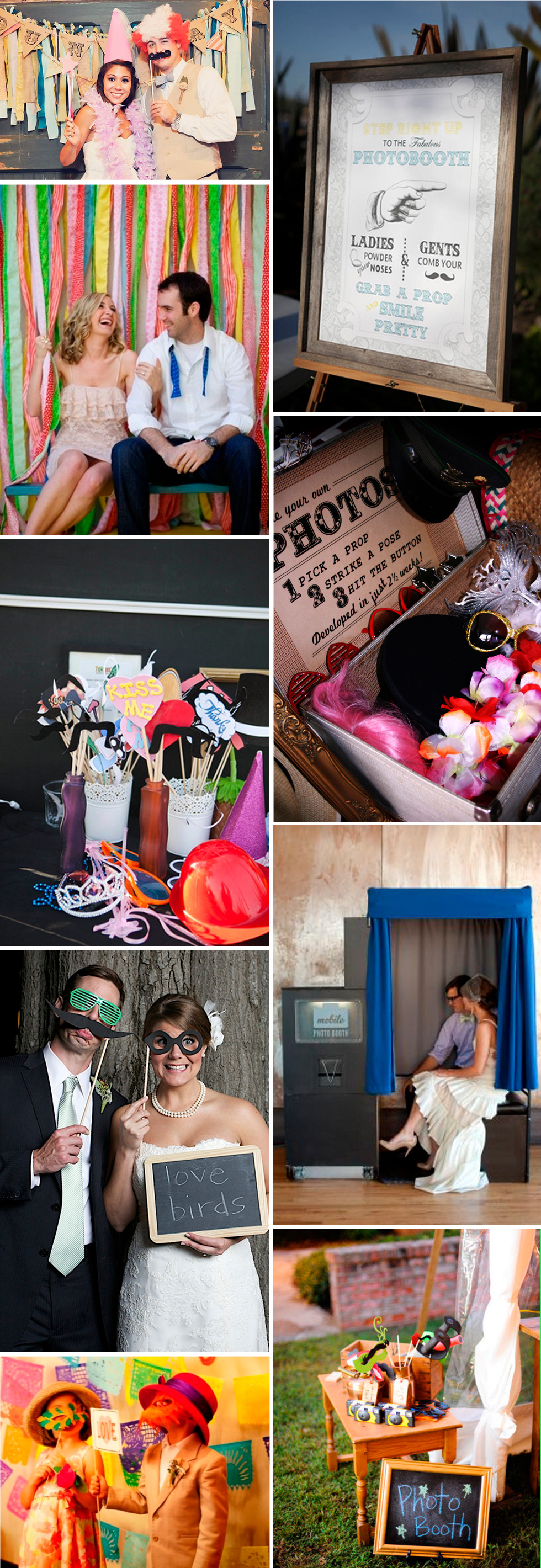 ideas photobooth para boda