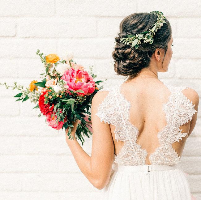 peinado novia 2019 moño bajo recogido