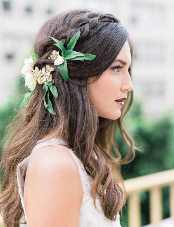 peinado novia 2019 semirecogido