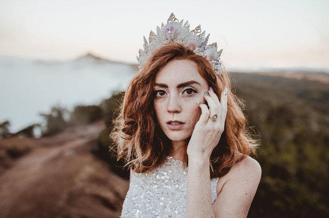 peinado novia 2019 media melena pelo suelto