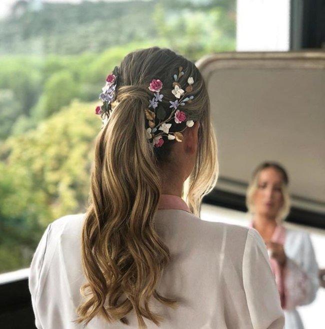 peinado novia 2019 coleta