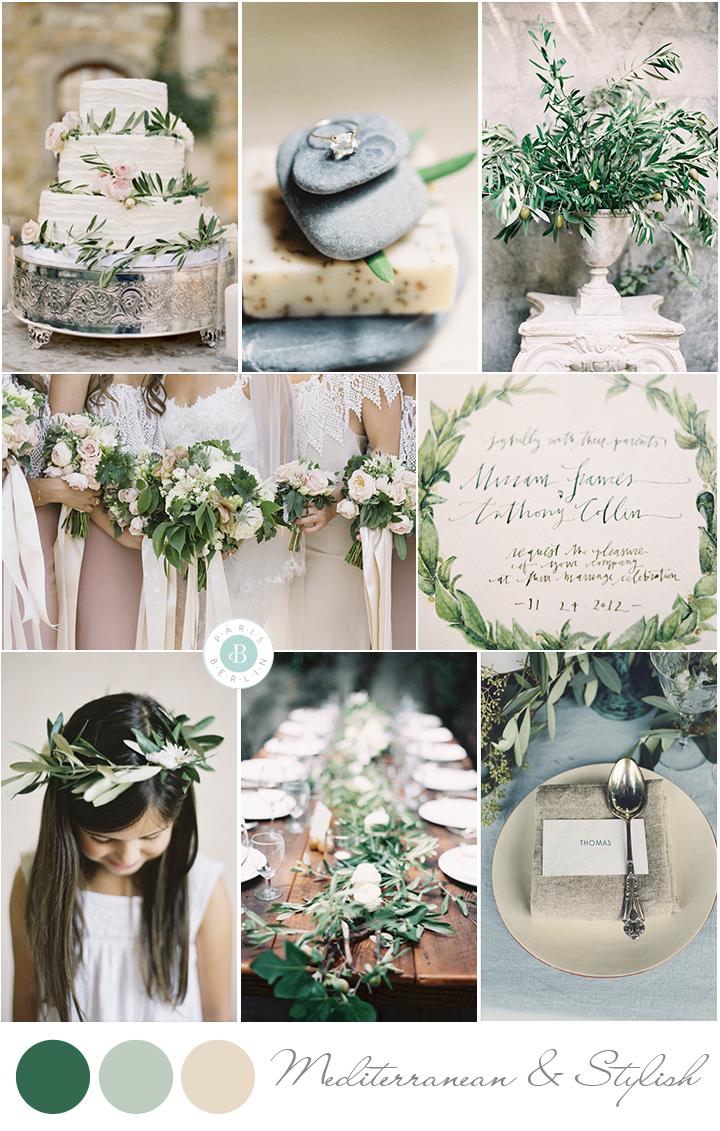 mediterranean wedding inspiration board olive