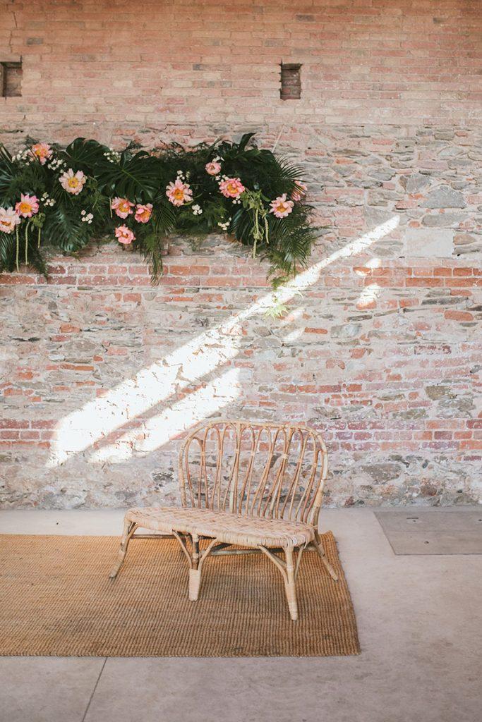 decoracion colgante ceremonia boda