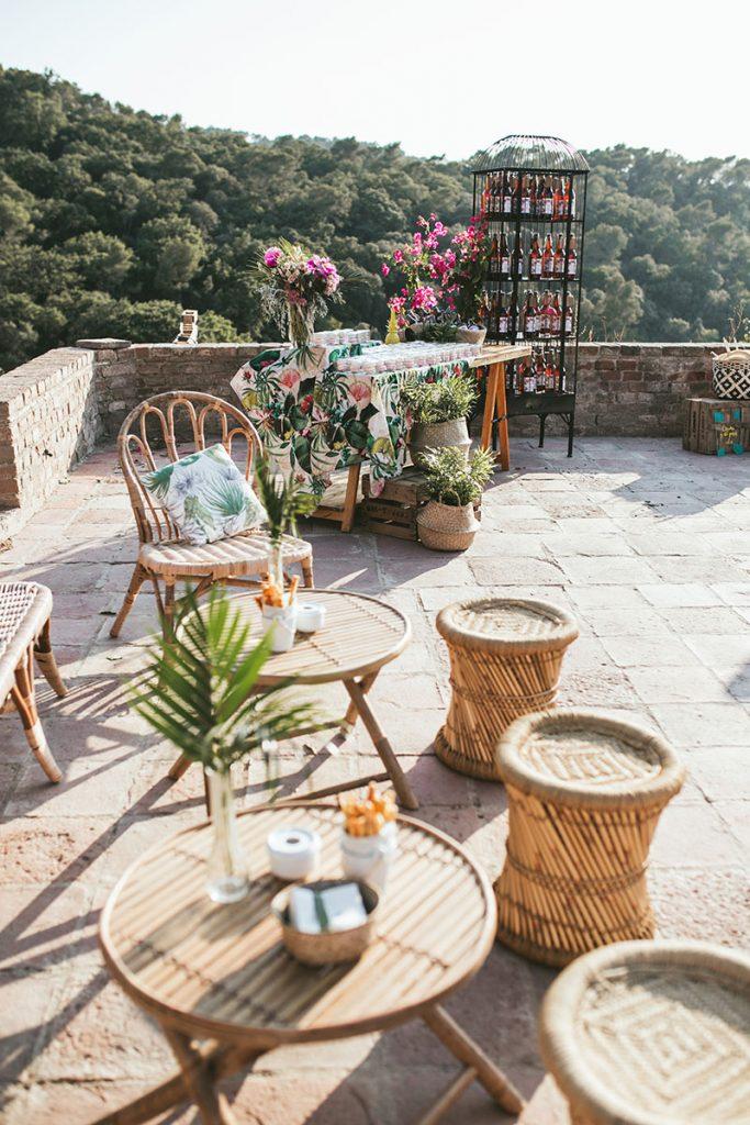 decoracion tropical boda