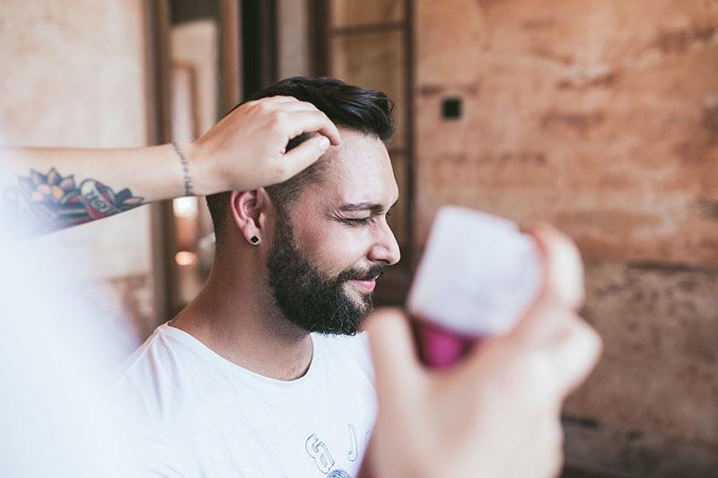 novio peinado