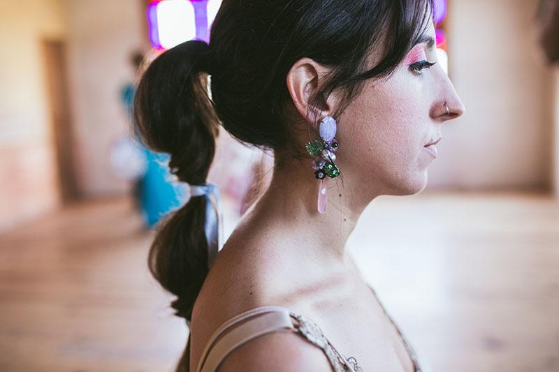 peinado novia cola lazos