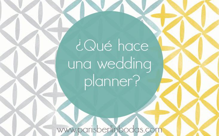 que hace una wedding planner