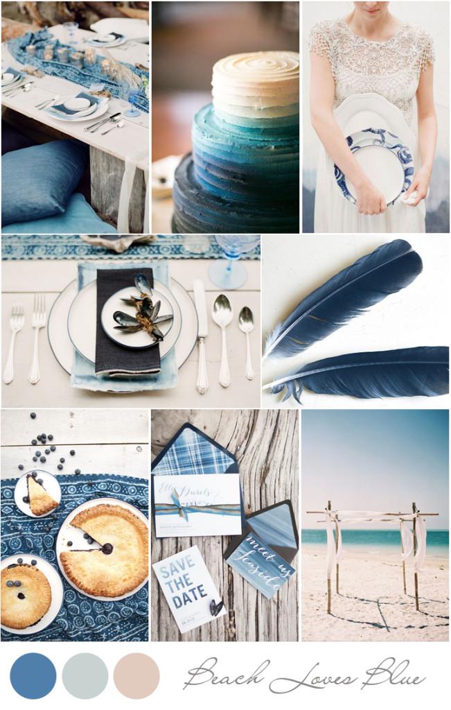 tendencias decoración boda 2014 playa azul