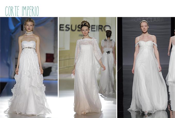 vestidos novia corte imperio mujer baja