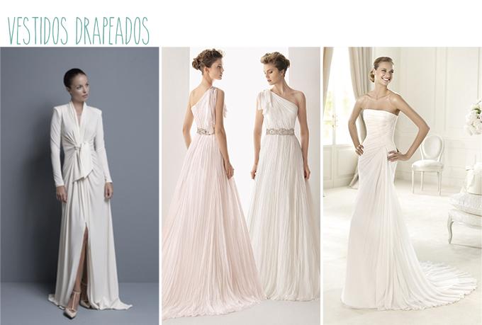 vestidos novia mujer mucho pecho drapeado
