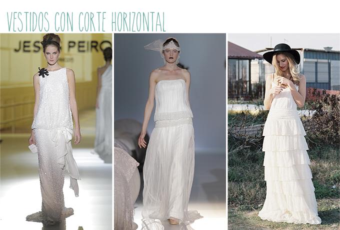 vestidos novia mujer poco pecho corte horizontal